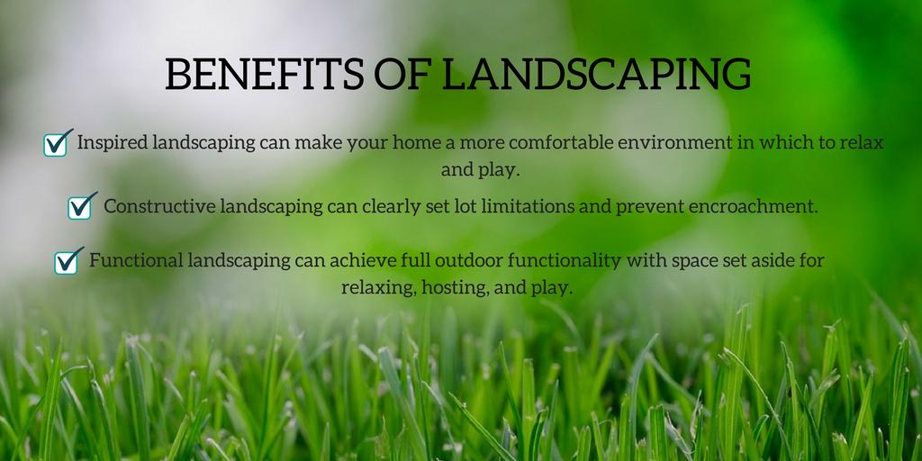 benefits of landscaping summer